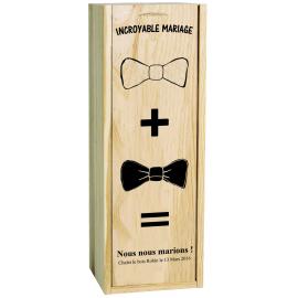Champagne Bollinger avec caisse bois personnalisée