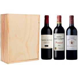 Châteaux Prestige 6 Bouteilles avec caisse bois personnalisée