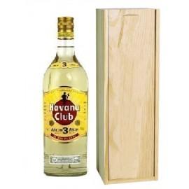 Rhum Havana Club 3 ans d'âge avec caisse bois personnalisée