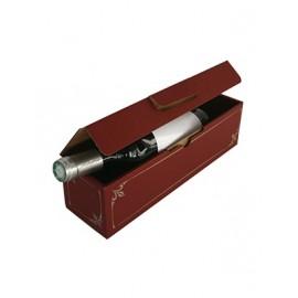 Coffret carton 1 Bouteille lie de vin
