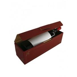 Coffret carton 1 Magnum lie de vin