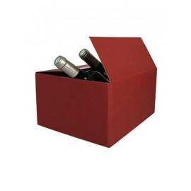 Coffret carton 6 Bouteilles lie de vin