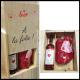 Coffret Bouillotte Cœur et Rosé