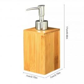 Bouteille distributeur gel ou savon à graver en bambou