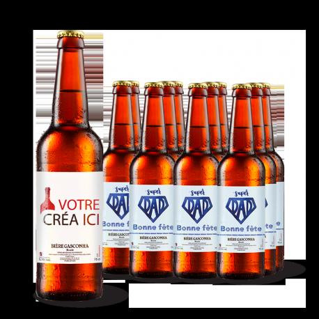 Lot de 12 Bières Blondes personnalisé