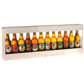 Bière 12 Gasconha Blonde 33 cL avec caisse bois
