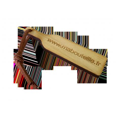 Porte-clé bois Mabouteille.fr