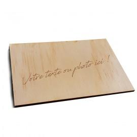 Carte postale bois personnalisée