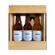 Bière 3 Gasconha Blonde 33 cL avec caisse bois personnalisée