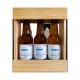 Bière 3 Gasconha Blanche 33 cL avec caisse bois personnalisée