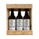Bière 3 Gasconha Blonde 75 cL avec caisse bois