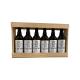 Bière 6 Gasconha Blanche 75 cL avec caisse bois