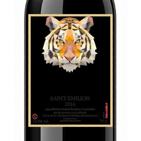Bouteille de Saint-Émilion 2016 personnalisée (vin rouge)