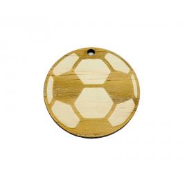 Porte-clé bois ballon foot Mabouteille.fr