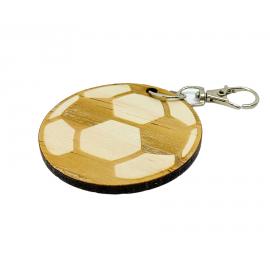 Porte-clés bois Ballon de Football personnalisé