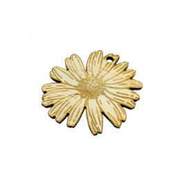 Porte-clé bois fleur Mabouteille.fr