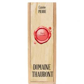 Caisse Bois 1 Magnum Bordeaux à glissière personnalisée