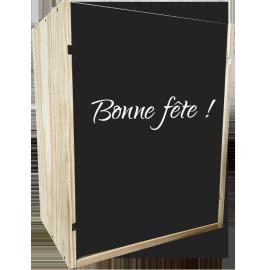 Caisse Bois 6 Bouteilles Champagne à glissière personnalisée