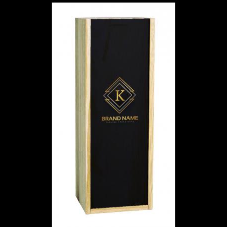 Caisse Bois 1 Double Magnum Bordeaux à glissière personnalisée