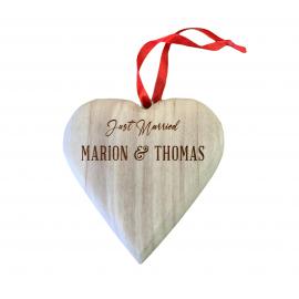 Cœur en bois personnalisé