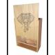 Caisse Bois 3 Magnums Bordeaux à glissière personnalisée
