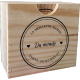 6 dessous de verres carrés et leur boîte personnalisée