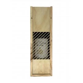 Caisse Bois 1 Bouteille Bordeaux ajourée laser
