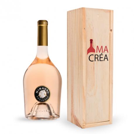 Miraval Rosé avec caisse bois personnalisée