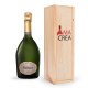 Champagne Ruinart avec caisse bois personnalisée