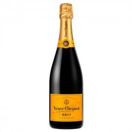 Champagne brut Veuve Clicquot avec caisse bois personnalisée