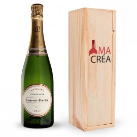 Champagne Laurent-Perrier avec caisse bois personnalisée