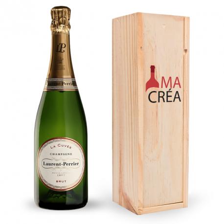 Champagne Champagne La Cuvée brut Laurent-Perrier avec caisse bois personnalisée