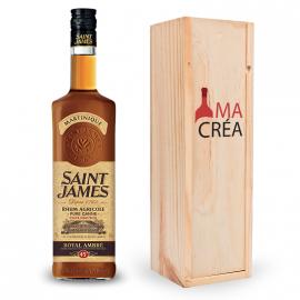 Rhum Saint James Royal Ambré avec caisse bois personnalisée