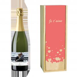Coffret Champagne et Caisse Bois Personnalisée