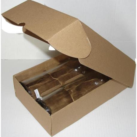 Coffret carton 2 bouteilles kraft