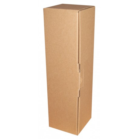 Coffret carton 1 Bouteille kraft personnalisé