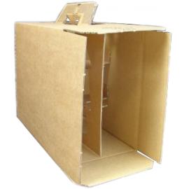 Coffret carton portable 6 Bouteilles kraft