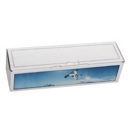 Coffret carton 1 Bouteille blanc personnalisé