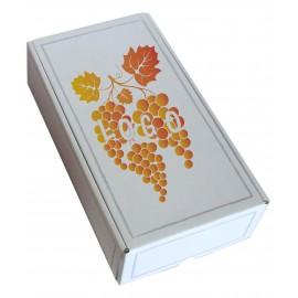 Coffret carton 2 Bouteilles blanc personnalisé