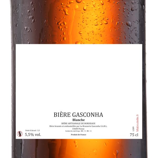 3x75 blanche bière etq